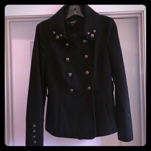 Black Military Style Pea Coat